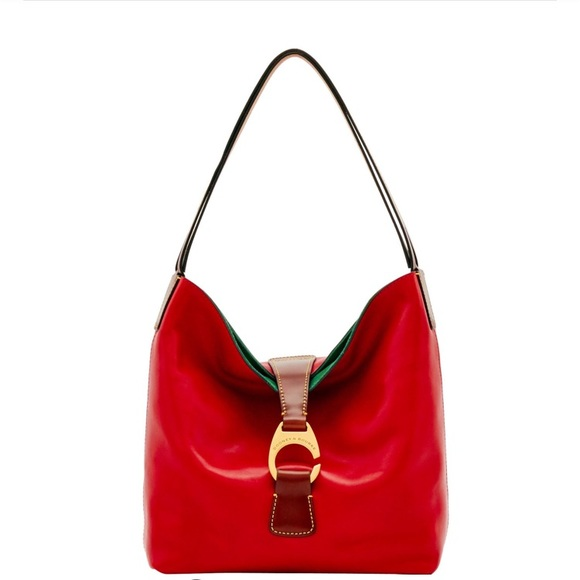 Dooney & Bourke Handbags - Dooney & Bourke Red Derby Florentine Hobo Bag NWT